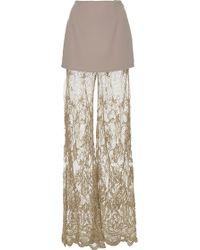Madiyah Al Sharqi Silk Net Pants - Natural
