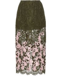 Madiyah Al Sharqi - Lace Embroidered Midi Pencil Skirt - Lyst