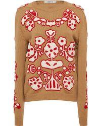 MARCH11 - Beige Derevo Wool Sweater - Lyst