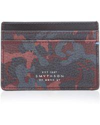 Smythson - Burlington Printed Leather Card Case - Lyst