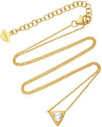 Amrapali - Kundan Vintage Diamond And 18k Gold Triangle Pendant Necklace - Lyst