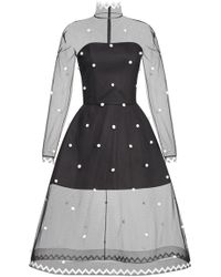 Yanina Demi Couture - Dotted A-line Dress - Lyst
