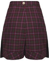 Dalood - Wool Plaid Skirt - Lyst