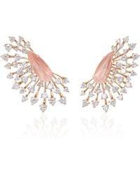 Hueb - Luminus 18k Rose Gold Diamond Earrings - Lyst