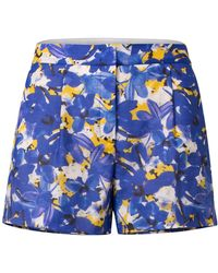 Dorothee Schumacher Caribbean Meadow Cotton Blend Shorts - Blue