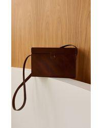 St. Agni Iniko Box Leather Shoulder Bag - Brown