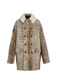 R13 Hunting Oversized Double-breasted Faux-shearling Coat - Multicolor