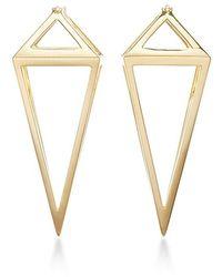 Noor Fares Pendulum 3d Earrings - Metallic