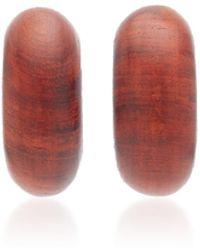 Uncommon Matters - Beam Wooden Earrings - Lyst