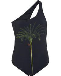 Isolda Maillot Palm Tree One Piece - Black