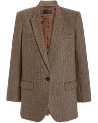 Nili Lotan Diane Pinstriped Wool-blend Blazer - Multicolour