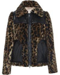 N°21 Adriana Leopard-print Faux Fur Jacket - Brown