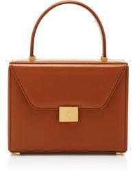 Victoria Beckham Vanity Top Handle Leather Bag - Brown
