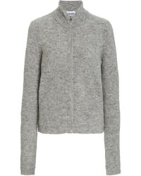 Ganni Soft Wool Knit Blouse - Gray