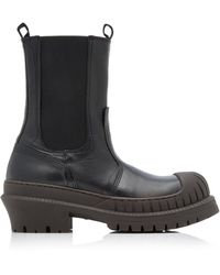 Acne Studios Bryant Lug-sole Leather Chelsea Boots - Black
