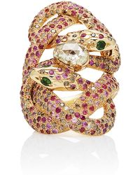 Sylvie Corbelin - M'o Exclusive: One-of-a-kind Double Initiée Snake Ring - Lyst