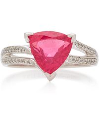 Akillis 18k Gold, Spinel And Diamond Ring - Red