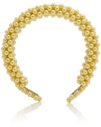 Shrimps Antonia Faux Pearl Headband - Yellow