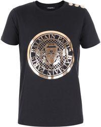 Balmain - Metallic Coin T-shirt - Lyst