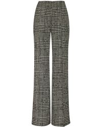 Carolina Herrera High-waisted Checked Silk And Wool Wide-leg Trousers - Multicolour