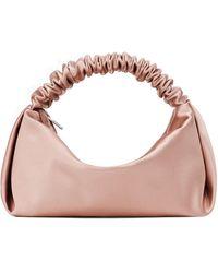 Alexander Wang Mini Scrunchie Satin Top Handle Bag - Pink