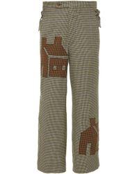 Bode House Applique Side-tie Trouser - Multicolour