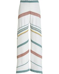 Alexis Saloni Striped Knit Cropped Trousers - Multicolour