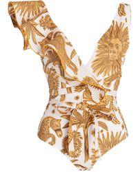 Johanna Ortiz High Noon Printed One-piece Swimsuit - Multicolour