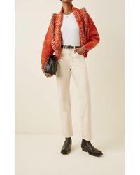 Alanui Bandana Wool-cashmere Bomber Jacket - Red