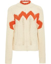 Isabel Marant - Bell Intarsia Cotton And Wool-blend Sweater - Lyst