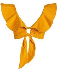 Johanna Ortiz Talisman Ruffled Bikini Top - Yellow
