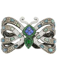Wendy Yue Opalescent Butterfly Bangle - Blue
