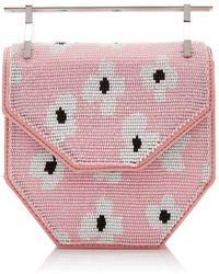 M2malletier X Pura Utz Mini Amor Fatti Geometric Beaded Cl - Pink