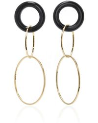 Mateo | 14k Gold And Onyx Earrings | Lyst