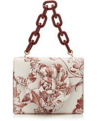Oscar de la Renta - Floral-detailed Tapestry-print Leather Shoulder Bag - Lyst