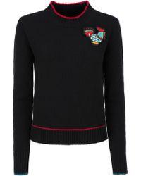 LaDoubleJ - Badge Detail Sweater - Lyst