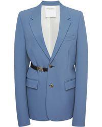Bottega Veneta Gabardine Suit Jacket - Blue
