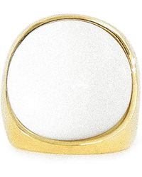 Peter Do Stone Dome Gold-tone Ring - White
