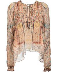 Chufy Arnaq Printed Crinkled Georgette Top - Multicolor
