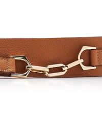 Maison Vaincourt Chain-detailed Wide Pebbled Leather Belt - Brown