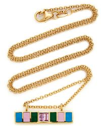 Sig Ward 18k Gold, Enamel And Pink Sapphire Necklace - Metallic