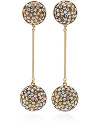 Lulu Frost Dream Gold-plated And Crystal Earrings - Metallic