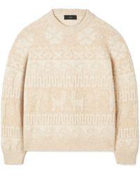 Alanui Land Of Alpacas Knit Sweater - White