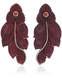Silvia Furmanovich - M'o Exclusive: Marquetry Leaf Earrings - Lyst