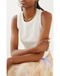 Fallon Toscano Gold-plated Chain Necklace - Metallic