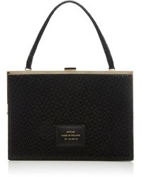 Chylak Woven Leather Top Handle Bag - Black