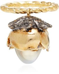 Sylvie Corbelin - One-of-a-kind Mobile Moonstone Flower Ring - Lyst