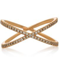 Eva Fehren - Fine Shorty 18k Rose Gold And Diamond Ring - Lyst