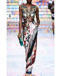 Dolce & Gabbana Cropped Brocade Vest - Multicolour