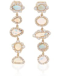 Kimberly Mcdonald - One-of-a-kind Boulder Opal And Diamond Drop Earrings - Lyst
